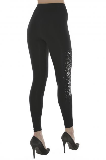LEGGINGS YOGA CON PERLE E BORCHIE LIMITED EDITION