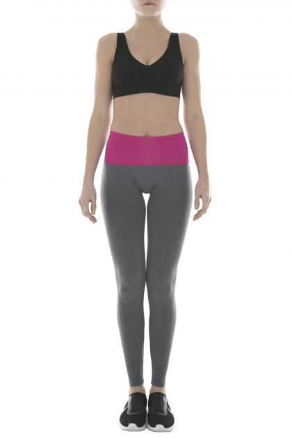 LEGGINGS YOGA ENJOY Grigio MelangeFucsia