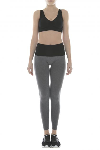 LEGGINGS YOGA ENJOY Grigio MelangeNero