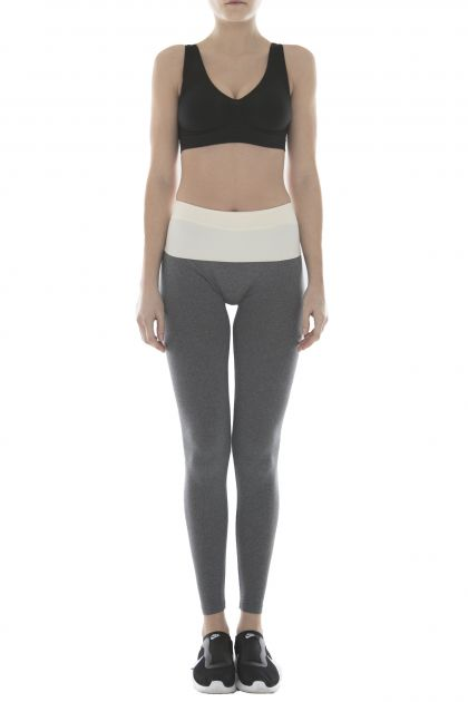 LEGGINGS YOGA ENJOY Grigio MelangeAvorio