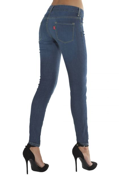 Jeans Emana skinny anticellulite blu denim